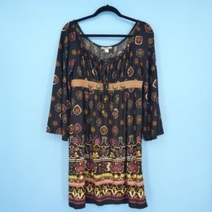 Muse Boston Proper Boho Empire Waist Dress (T16)